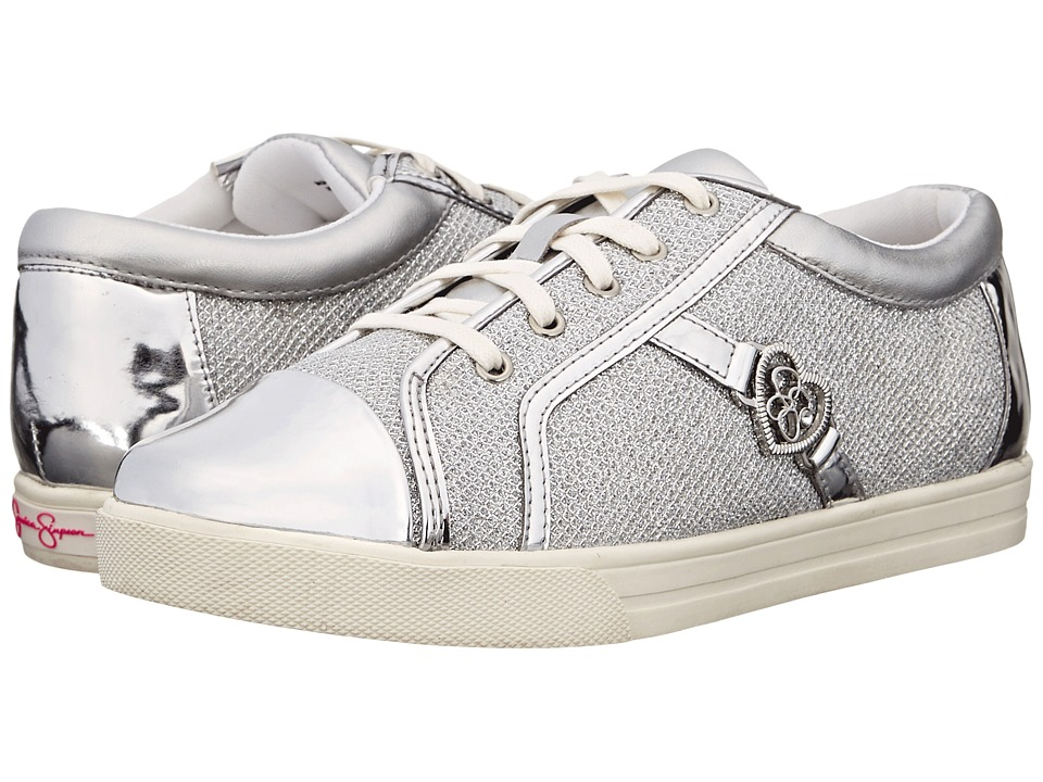 Jessica Simpson Kids Aurora Little Kid/Big Kid Silver Lurex Girls Shoes