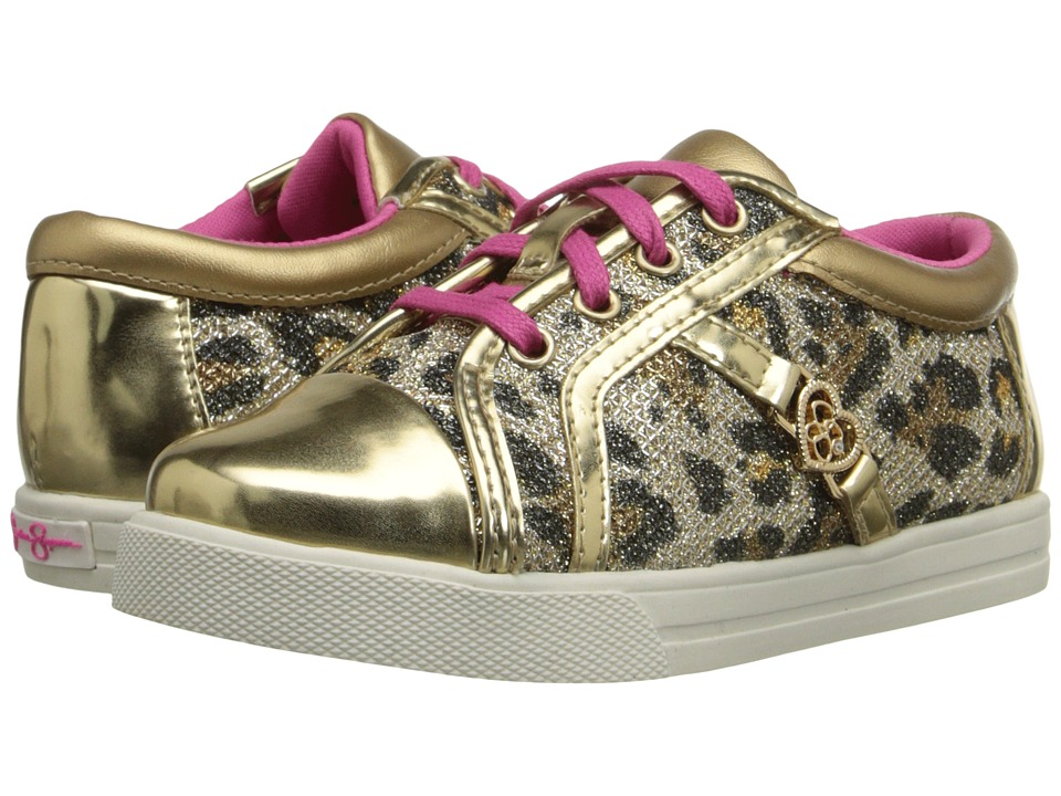 Jessica Simpson Kids Aurora Toddler Gold Leopard Girls Shoes