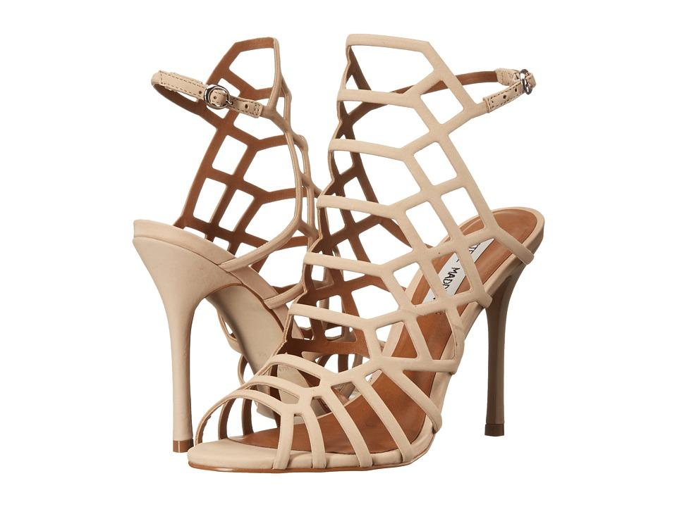 Steve Madden Slithur Caged Sandal (Blush Nubuck) High Heels