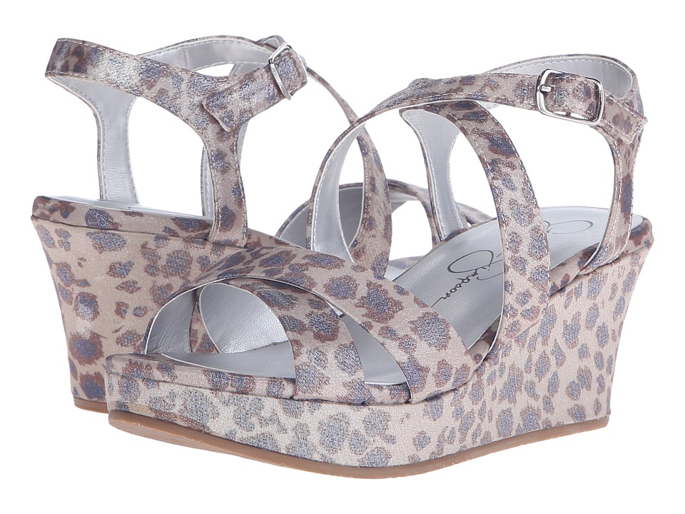 Jessica Simpson Kids Delphi Little Kid/Big Kid Gold Leopard Girls Shoes