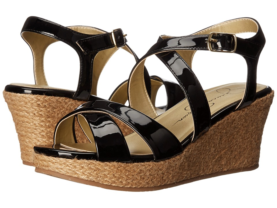 Jessica Simpson Kids Delphi Little Kid/Big Kid Black Patent Girls Shoes