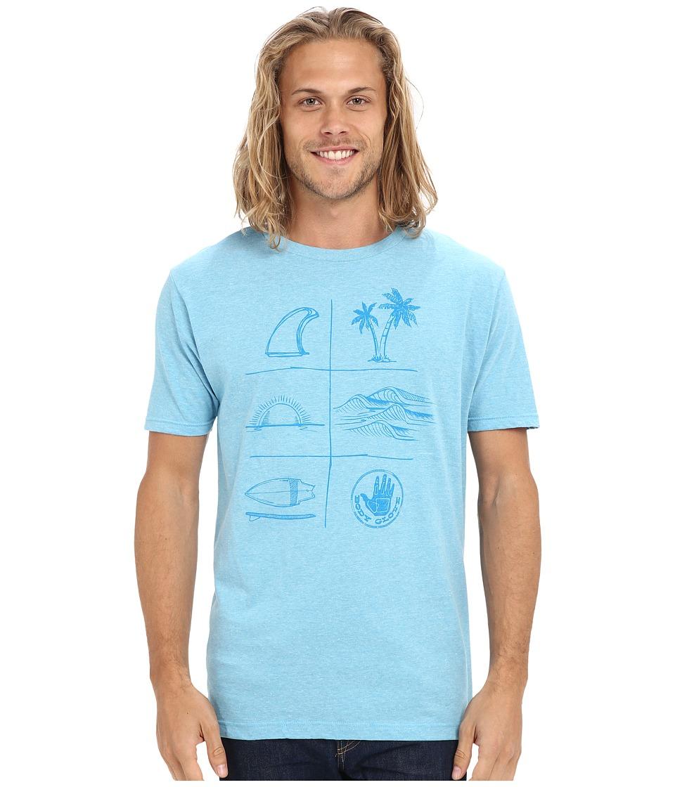 Body Glove 47137/46 Summer Daze Tee Light Blue Heather Mens T Shirt