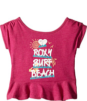 Roxy Kids - Surf Beach Ruffled Tee (Toddler/Little Kids)