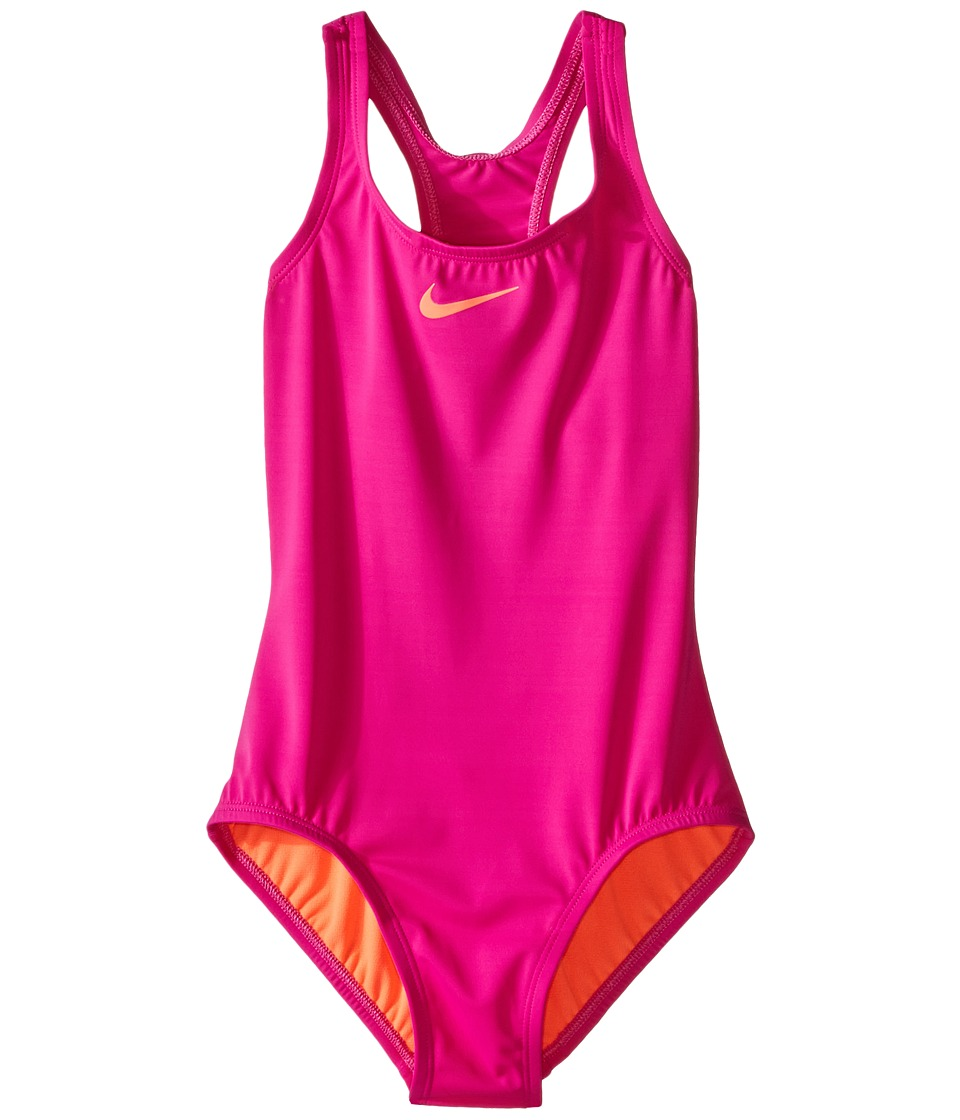Nike Kids Solid Racerback Tank Top (Big Kids) (Fire Pink) Girl