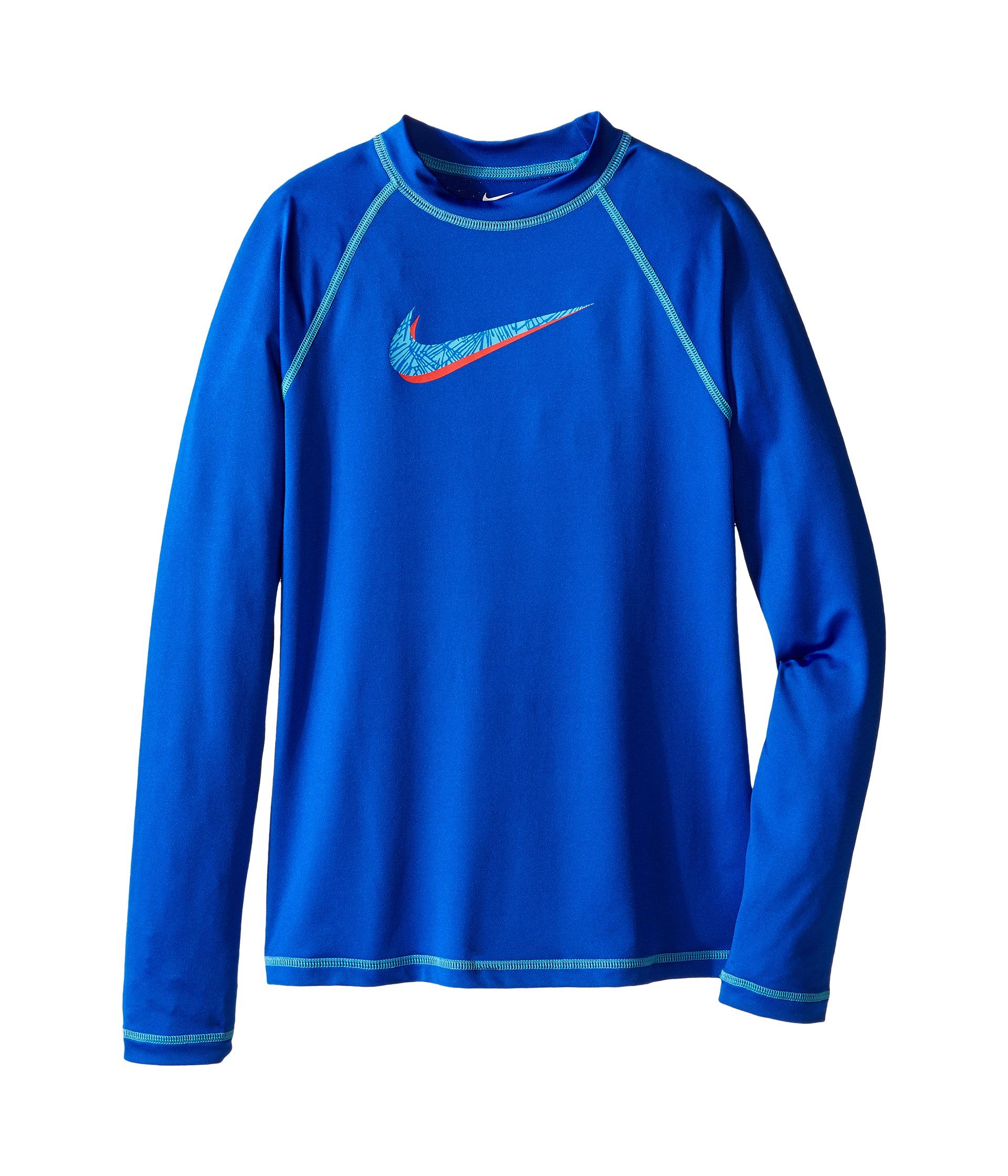 Nike Kids Hydro Uv Long Sleeve Swim Shirt Big Kids Hyper
