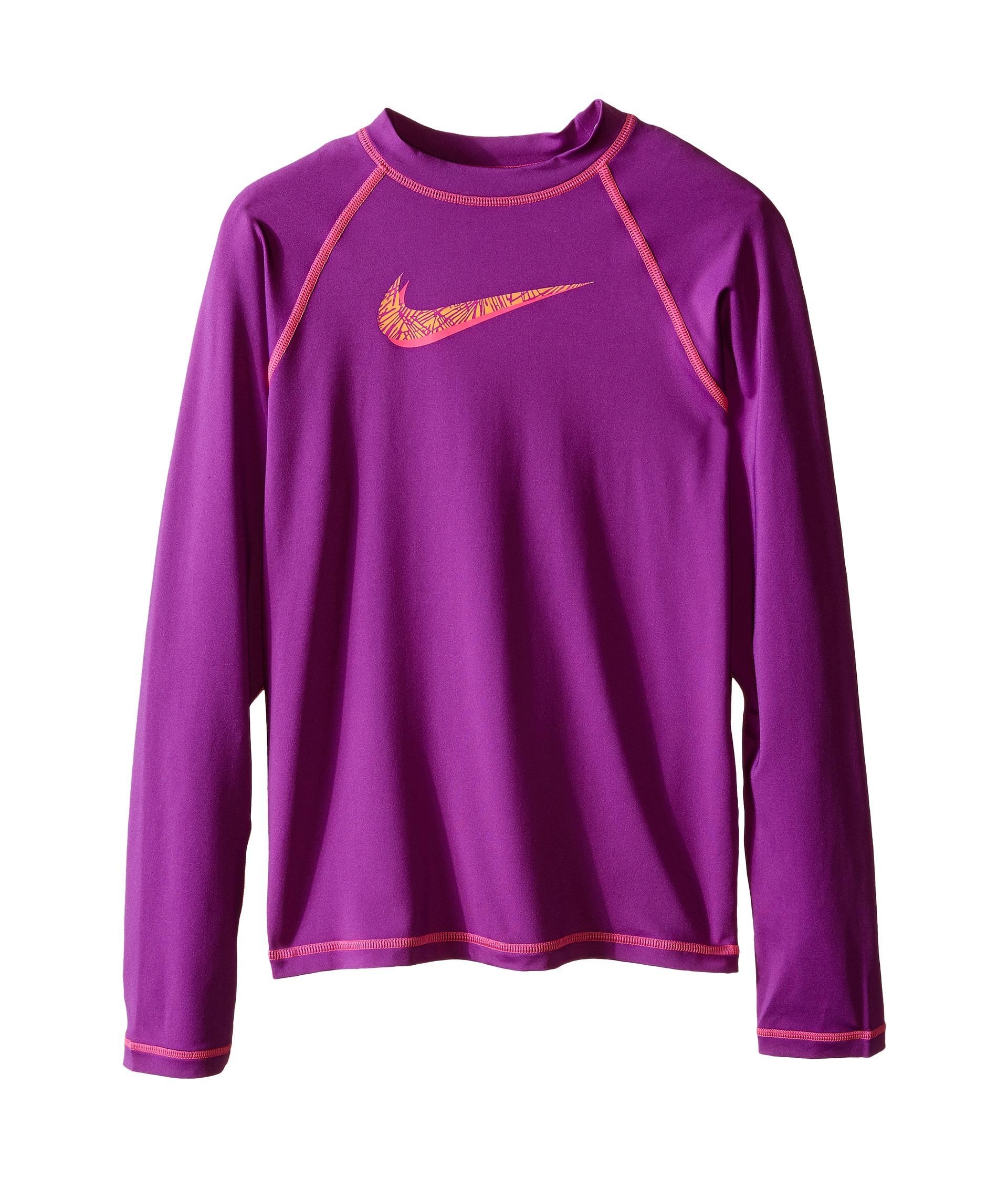 Nike Kids Hydro Uv Long Sleeve Swim Shirt Big Kids