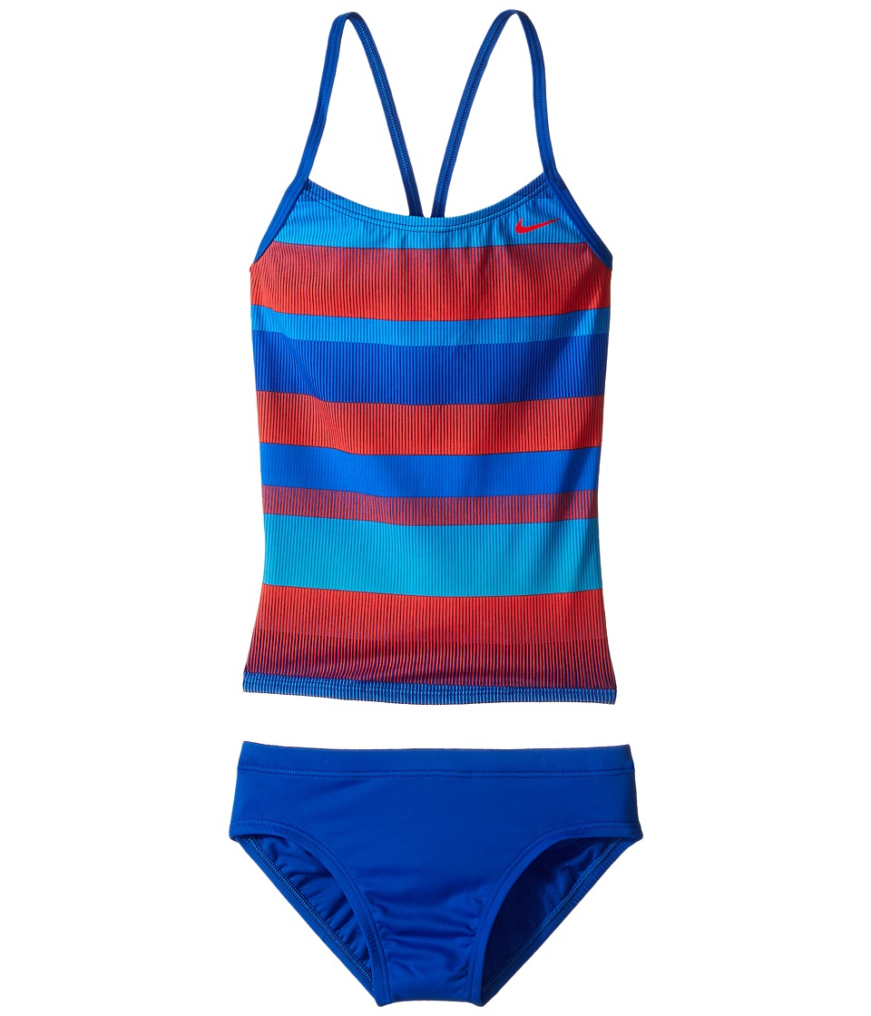 Nike Kids Optic Shift V-Back Tankini (Big Kids) (Hyper Cobalt) Girl