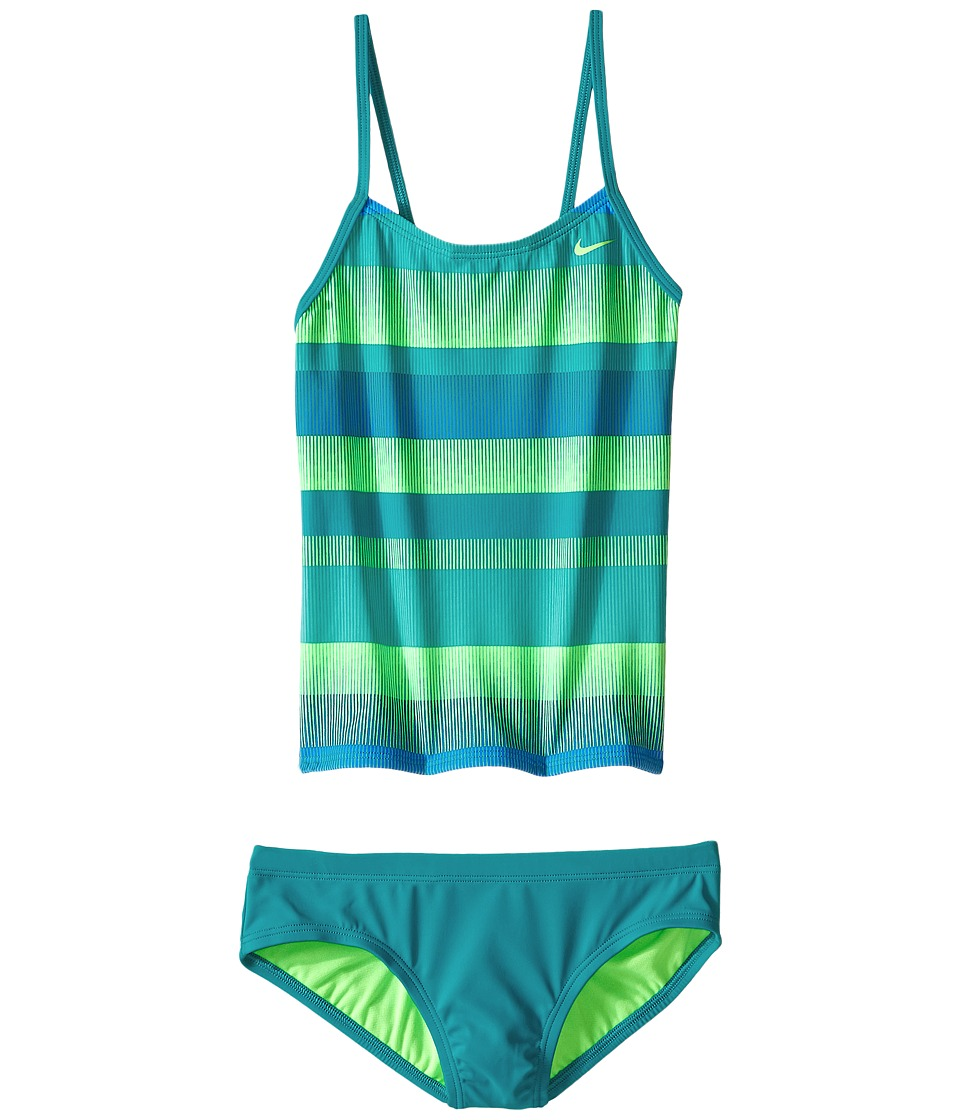 Nike Kids Optic Shift V-Back Tankini (Big Kids) (Energy) Girl