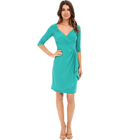 Adrianna Papell - Peekaboo Side Draped Jersey Dress
