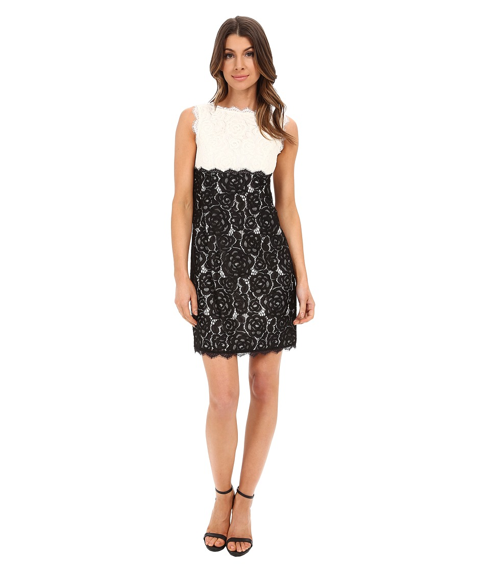 Adrianna Papell Aline Empire Waist Shift Dress Ivory/Black Womens Dress