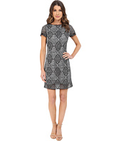 Adrianna Papell - Short Sleeve Lace Shift Dress