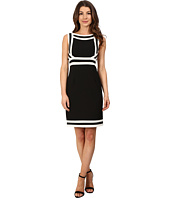 Adrianna Papell - Spliced and Striped Crepe Dress