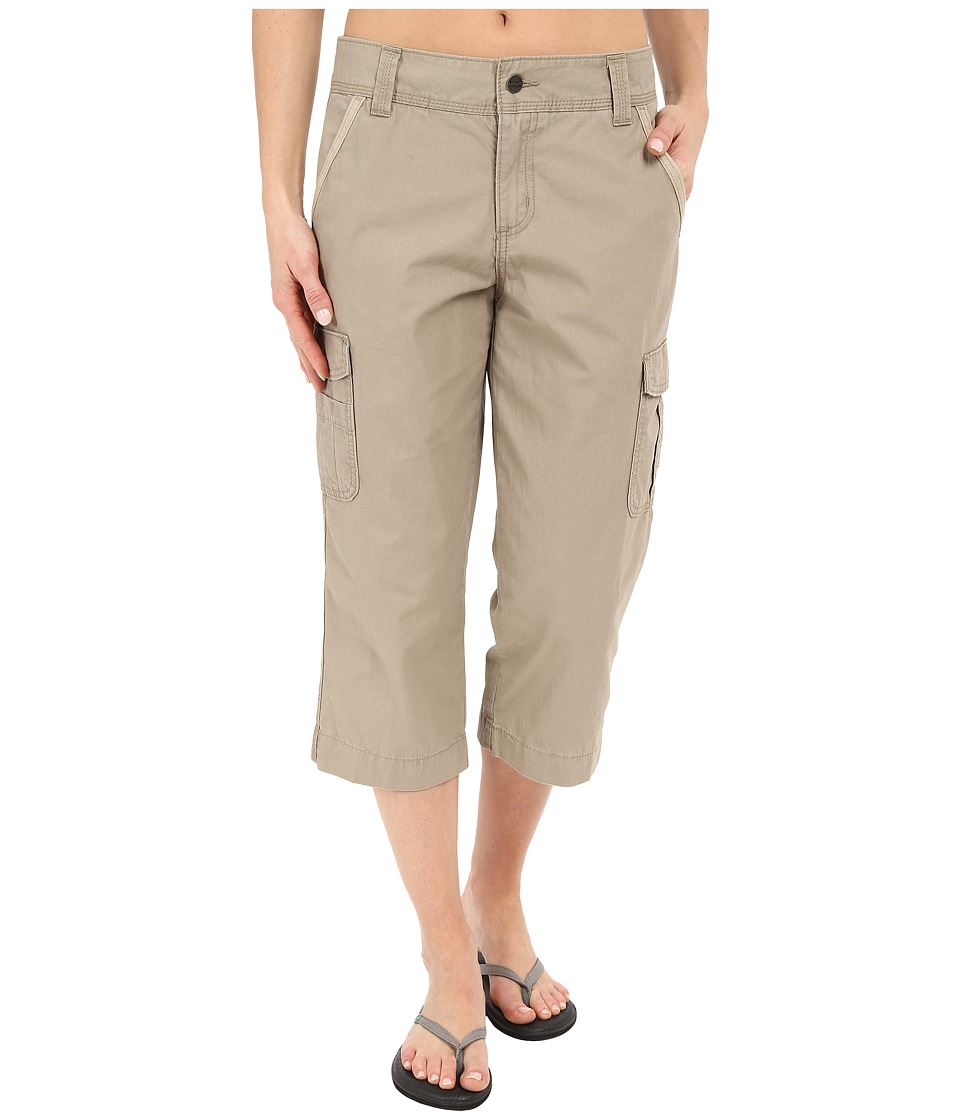 Carhartt Relaxed Fit El Paso Cropped Pants Field Khaki Womens Casual Pants