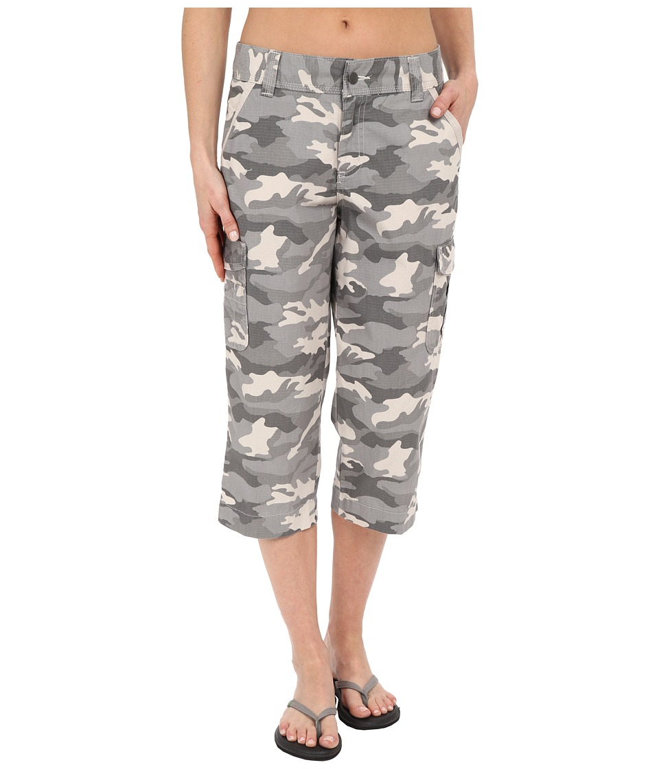 Carhartt Relaxed Fit El Paso Cropped Pants Camo Gray Womens Casual Pants