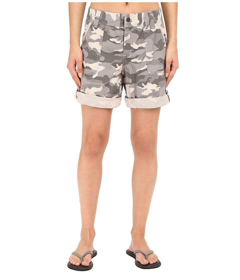 Carhartt Relaxed Fit El Paso Shorts Camo Gray Womens Shorts