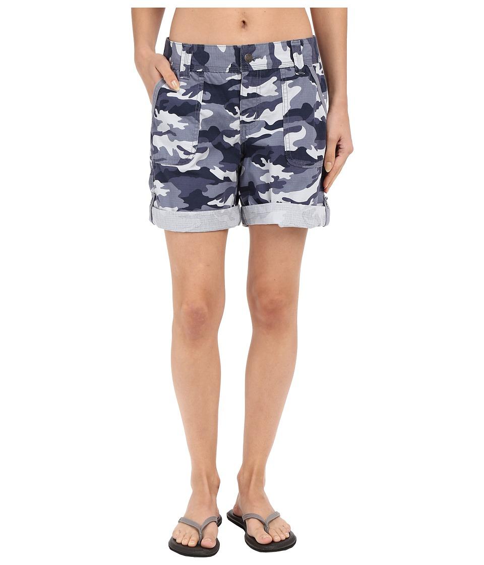 Carhartt Relaxed Fit El Paso Shorts Camo Deep Blue Womens Shorts