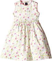Oscar de la Renta Childrenswear - Watercolor Floral Cotton Party Dress (Toddler/Little Kids/Big Kids)