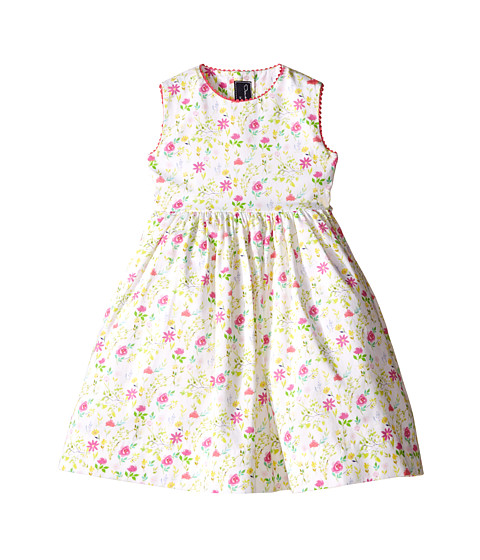 Oscar de la Renta Childrenswear Watercolor Floral Cotton Party Dress (Toddler/Little Kids/Big Kids)