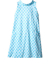 Oscar de la Renta Childrenswear - Floral Block Cotton A-Line Dress (Toddler/Little Kids/Big Kids)