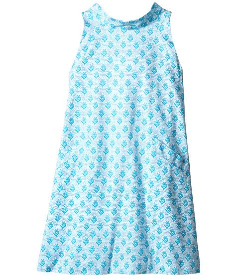 Oscar de la Renta Childrenswear Floral Block Cotton A-Line Dress (Toddler/Little Kids/Big Kids)