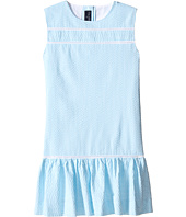 Oscar de la Renta Childrenswear - Seersucker Drop Waist Dress (Toddler/Little Kids/Big Kids)