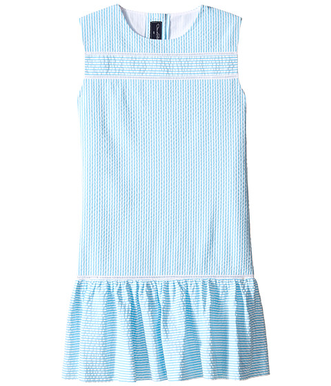 Oscar de la Renta Childrenswear Seersucker Drop Waist Dress (Toddler/Little Kids/Big Kids)