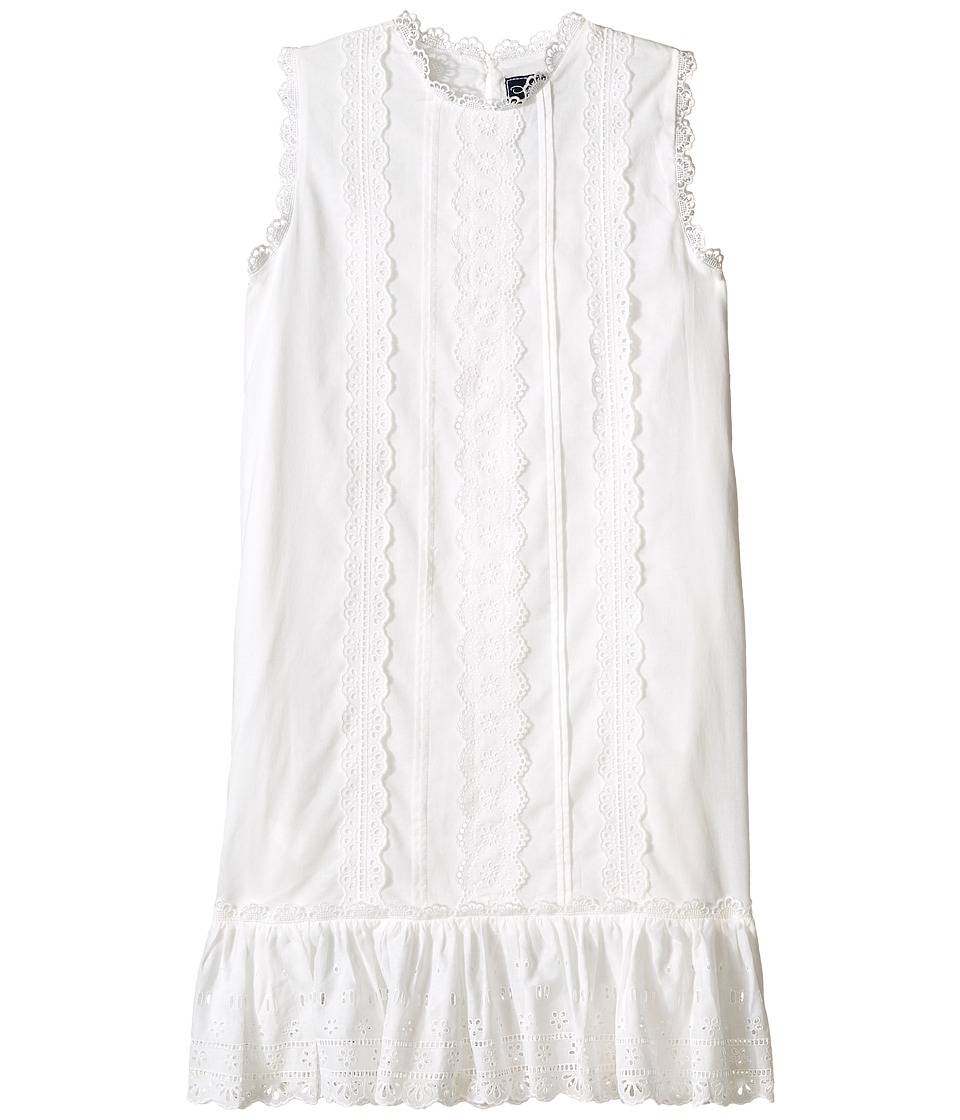 Oscar de la Renta Childrenswear Cotton Eyelet Sundress Toddler/Little Kids/Big Kids White Girls Dress