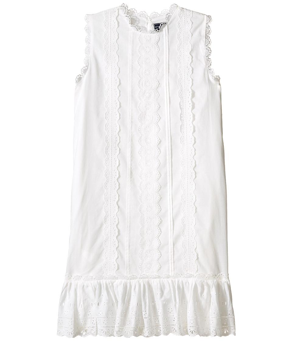 Oscar de la Renta Childrenswear Cotton Eyelet Sundress Toddler/Little Kids/Big Kids White Girls Dress