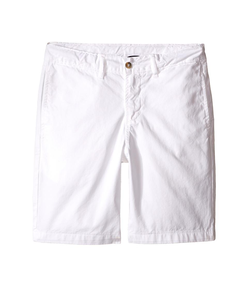 Oscar de la Renta Childrenswear Cotton Twill Classic Shorts Toddler/Little Kids/Big Kids White Boys Shorts