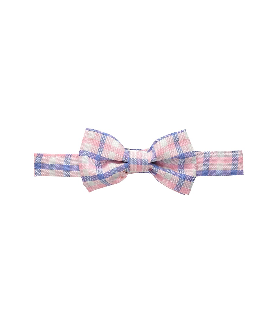 Oscar de la Renta Childrenswear Check Cotton Bow Tie Toddler/Little Kids/Big Kids Rose Ties