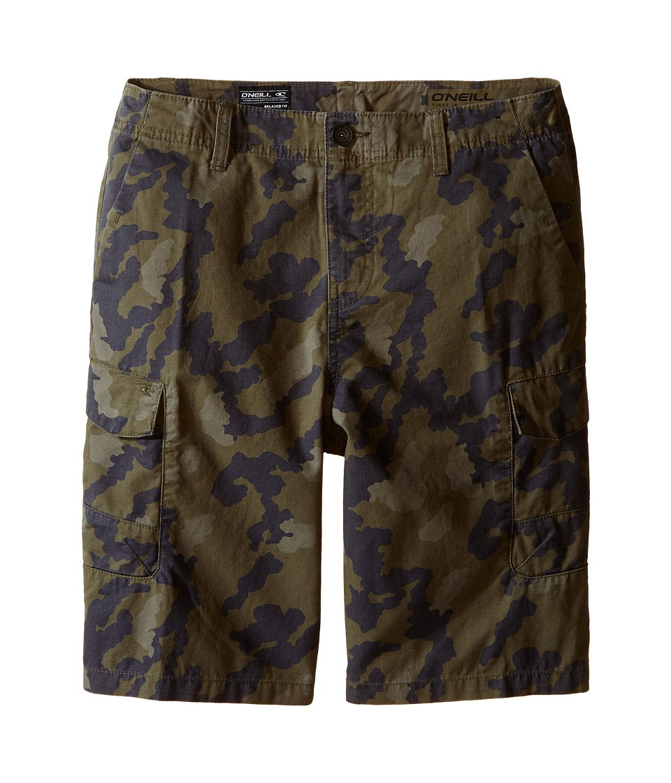 ONeill Kids Black Hawk Cargo Shorts Big Kids Camo Boys Shorts