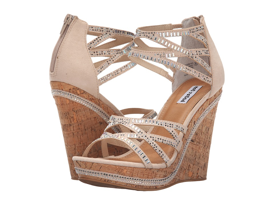 Not Rated Coral Sea Nude Womens Wedge Shoes
