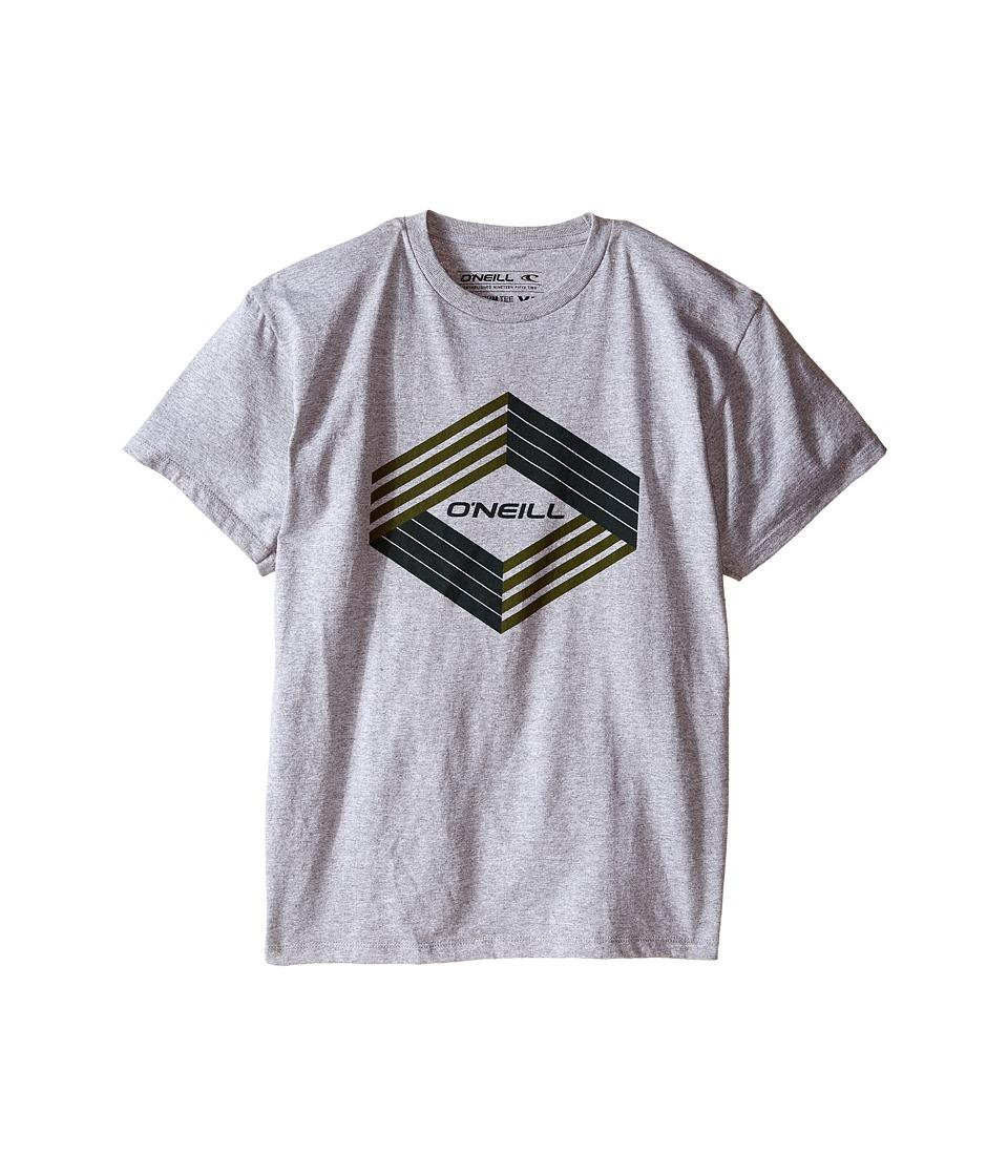 ONeill Kids Highlander Short Sleeve Screens Tee Big Kids Medium Heather Grey Boys T Shirt