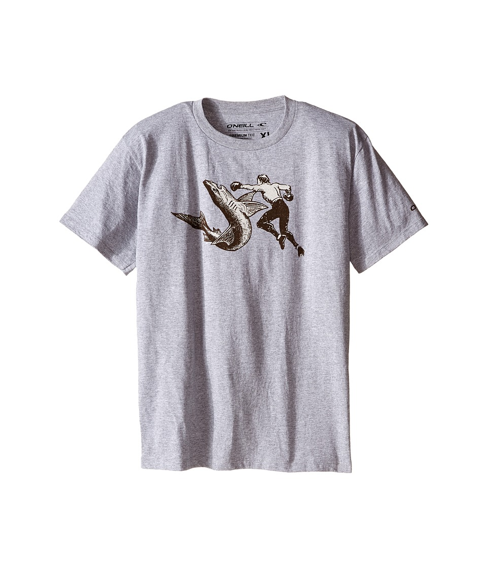 ONeill Kids Attack Short Sleeve Screen Tee Big Kids Medium Heather Grey Boys T Shirt