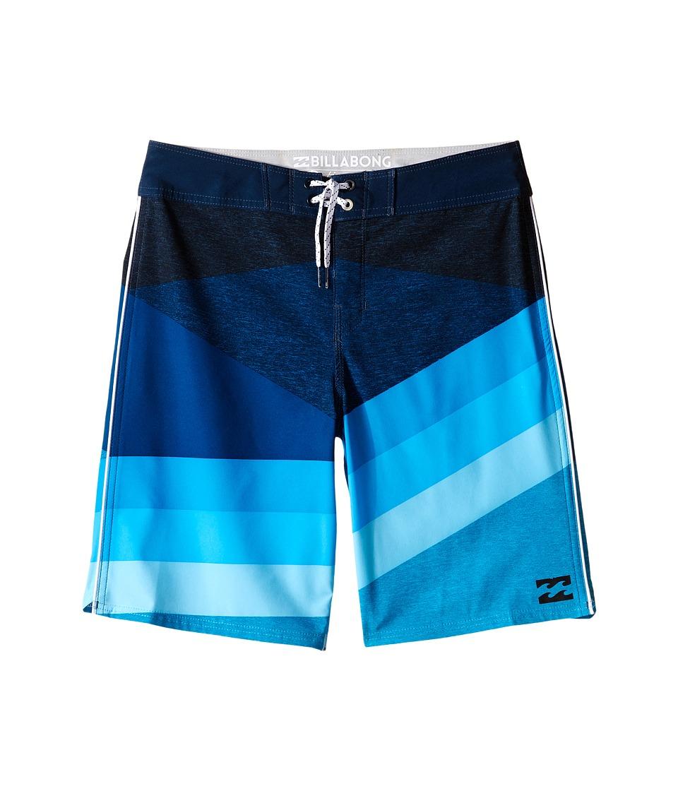 Billabong Kids Slice X Boardshorts Big Kids Blue Boys Swimwear
