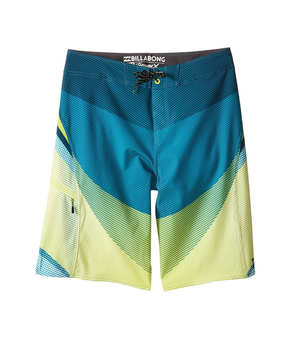 Billabong Kids Fluid X Boardshorts Big Kids Lime Boys Swimwear