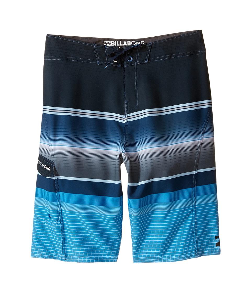 Billabong Kids All Day X Stripe Big Kids Blue Boys Swimwear