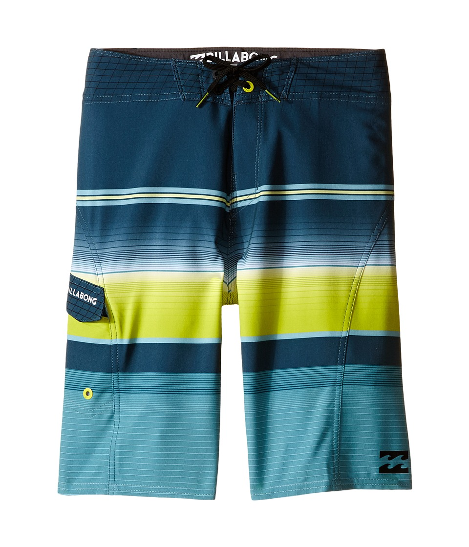 Billabong Kids All Day X Stripe Big Kids Lime Boys Swimwear