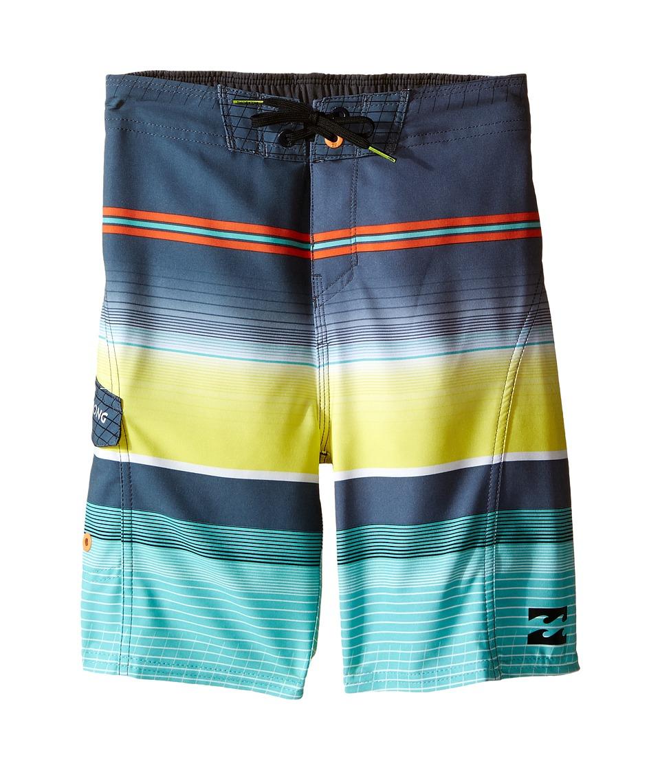 Billabong Kids All Day X Stripe Big Kids Mint Boys Swimwear