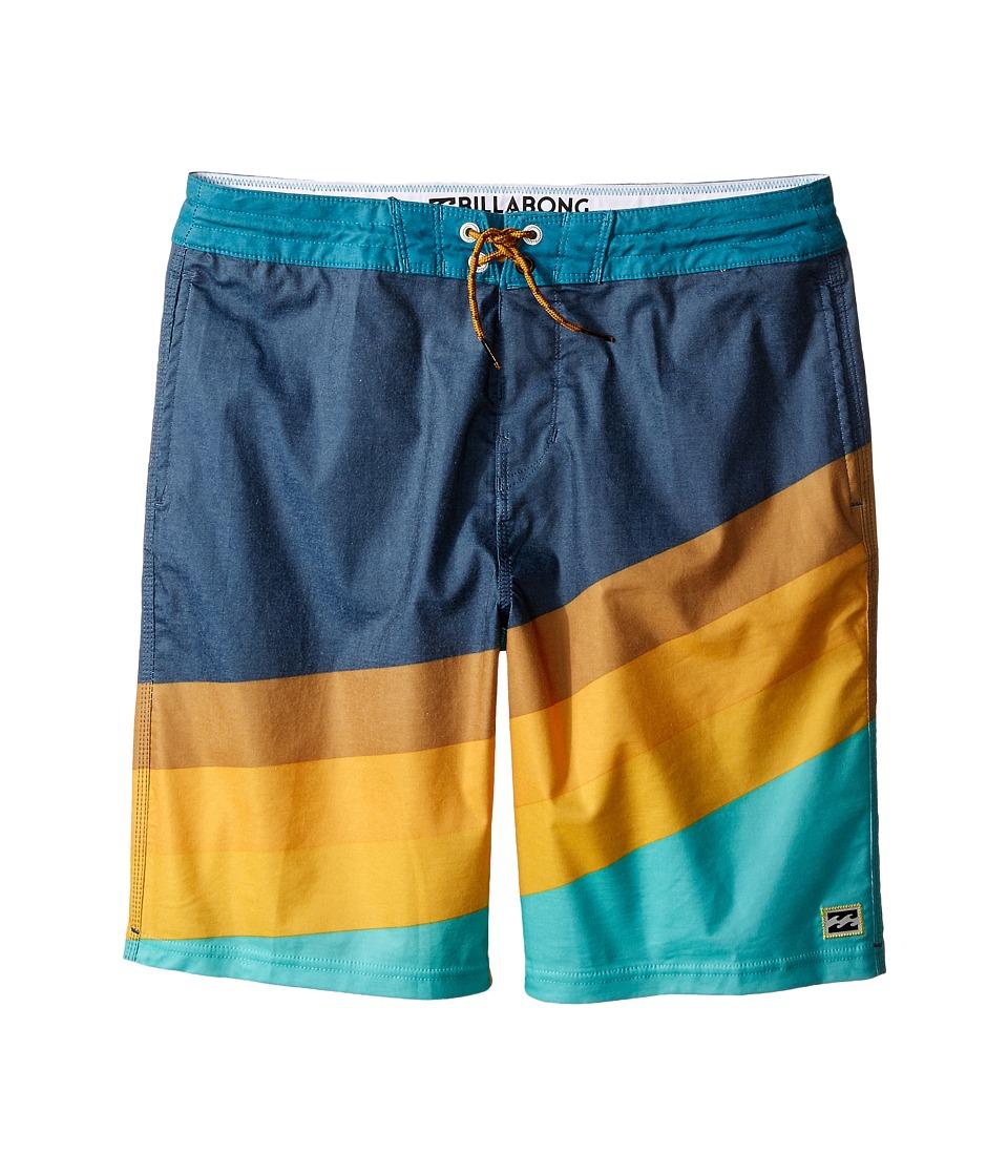 Billabong Kids Slice Lo Tides Big Kids Aqua Boys Swimwear