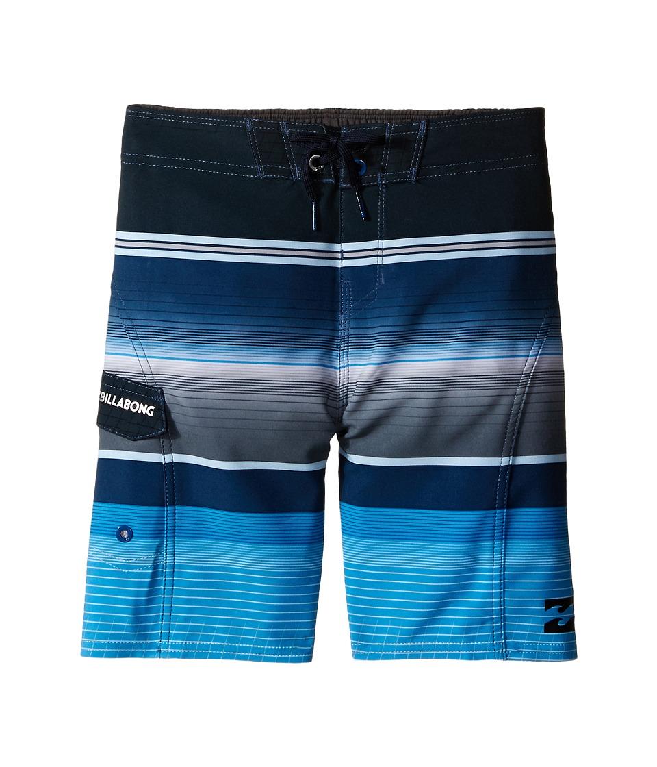 Billabong Kids All Day X Stripe Toddler/Little Kids Blue Boys Swimwear