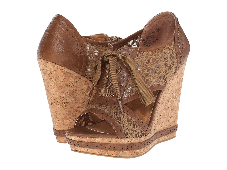 Not Rated Catalonia Tan Womens Wedge Shoes