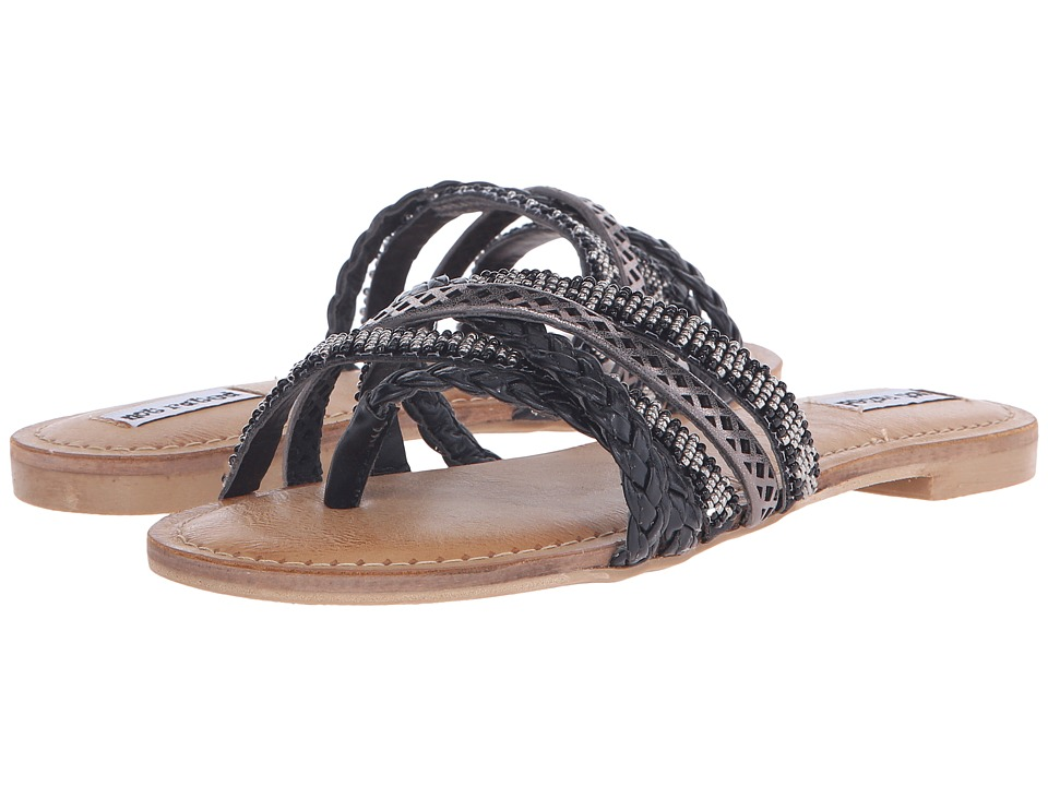 Not Rated Tempest Black Womens Slide Shoes