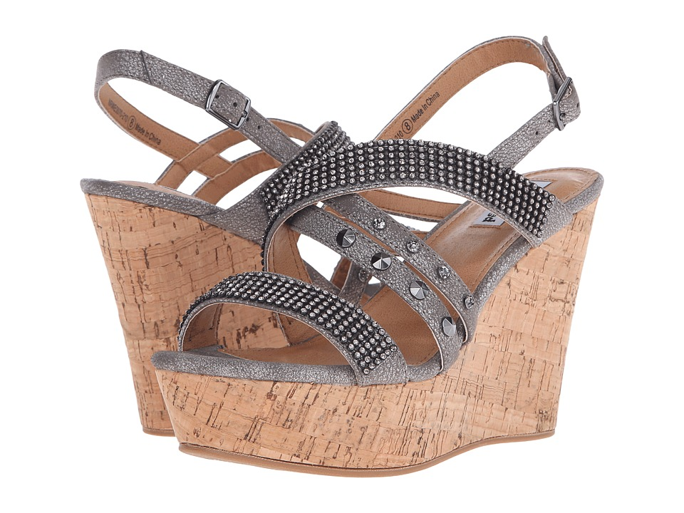 Not Rated Viti Pewter Womens Wedge Shoes