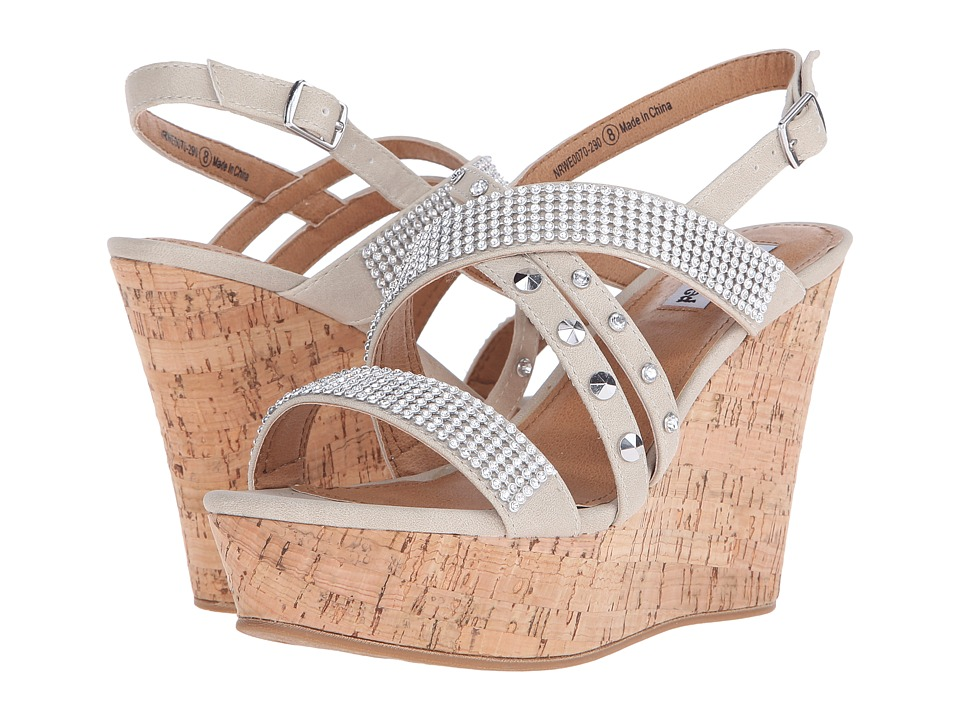 Not Rated Viti Cream Womens Wedge Shoes