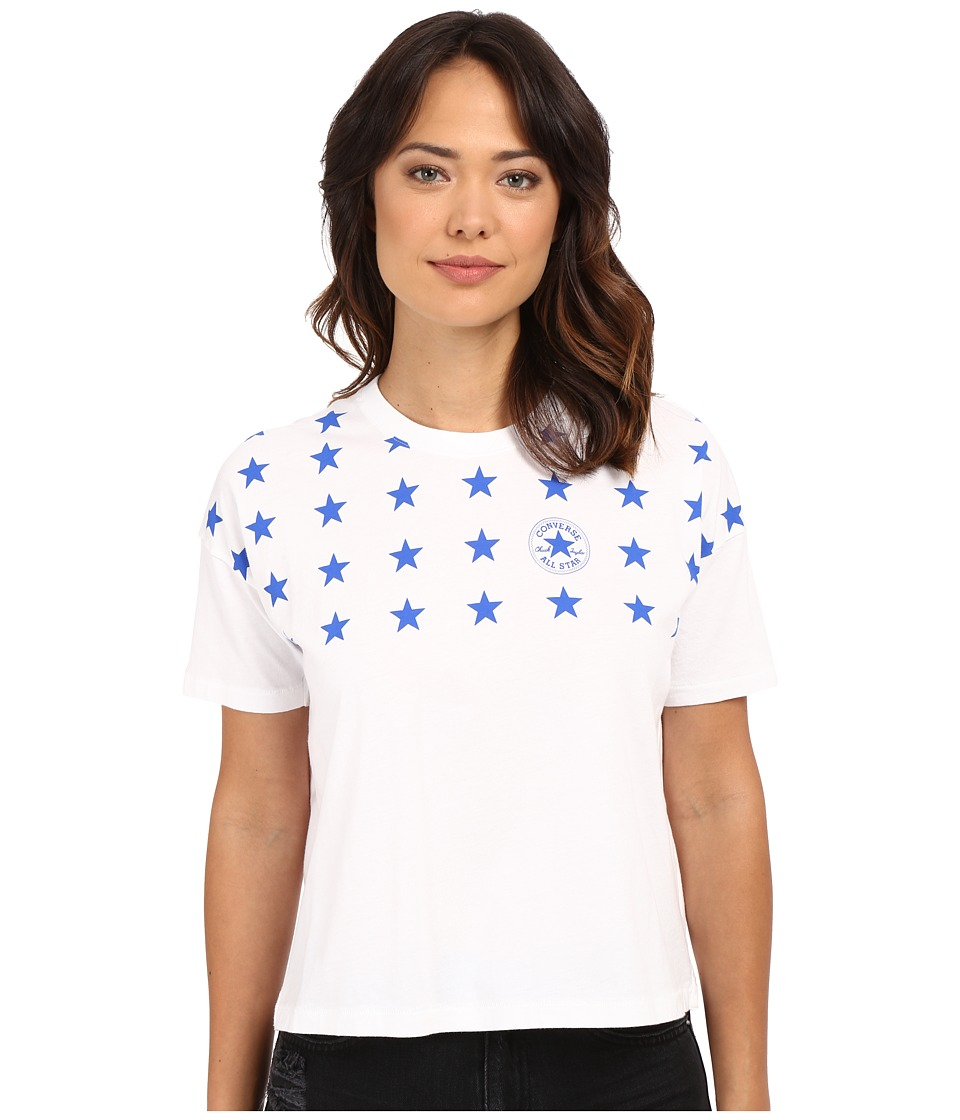 Converse - Famous 4 Star Print Swing Tee (White) Women