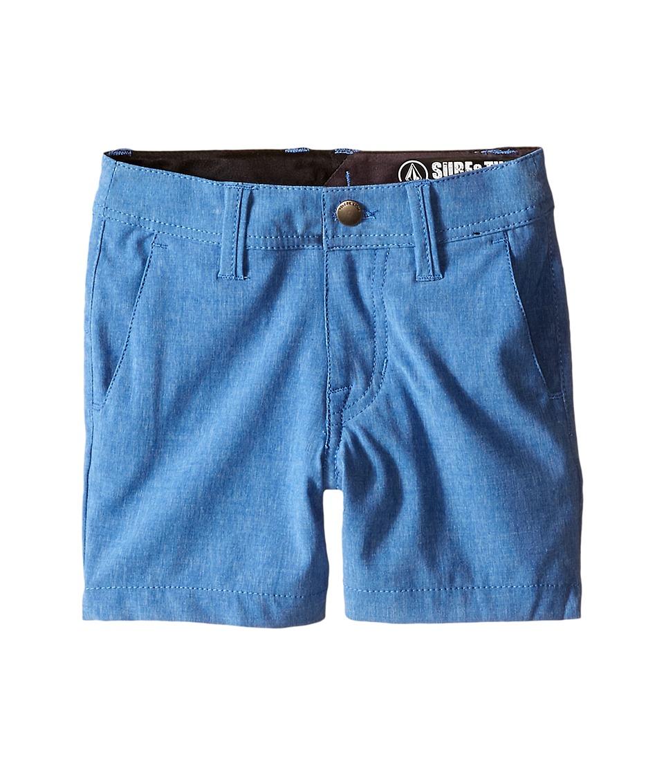 Volcom Kids SNT Static Hybrid Toddler/Little Kids Estate Blue Boys Shorts