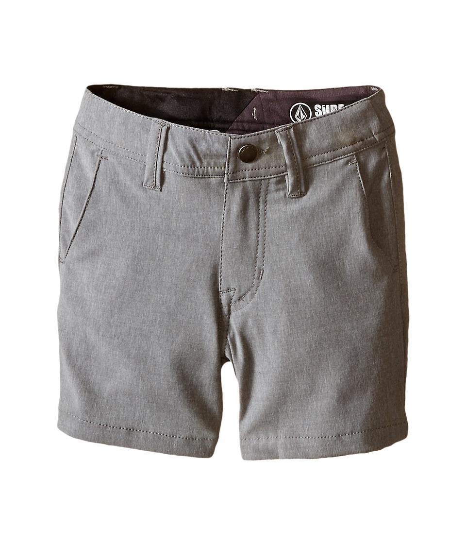 Volcom Kids SNT Static Hybrid Toddler/Little Kids Gunmetal Boys Shorts