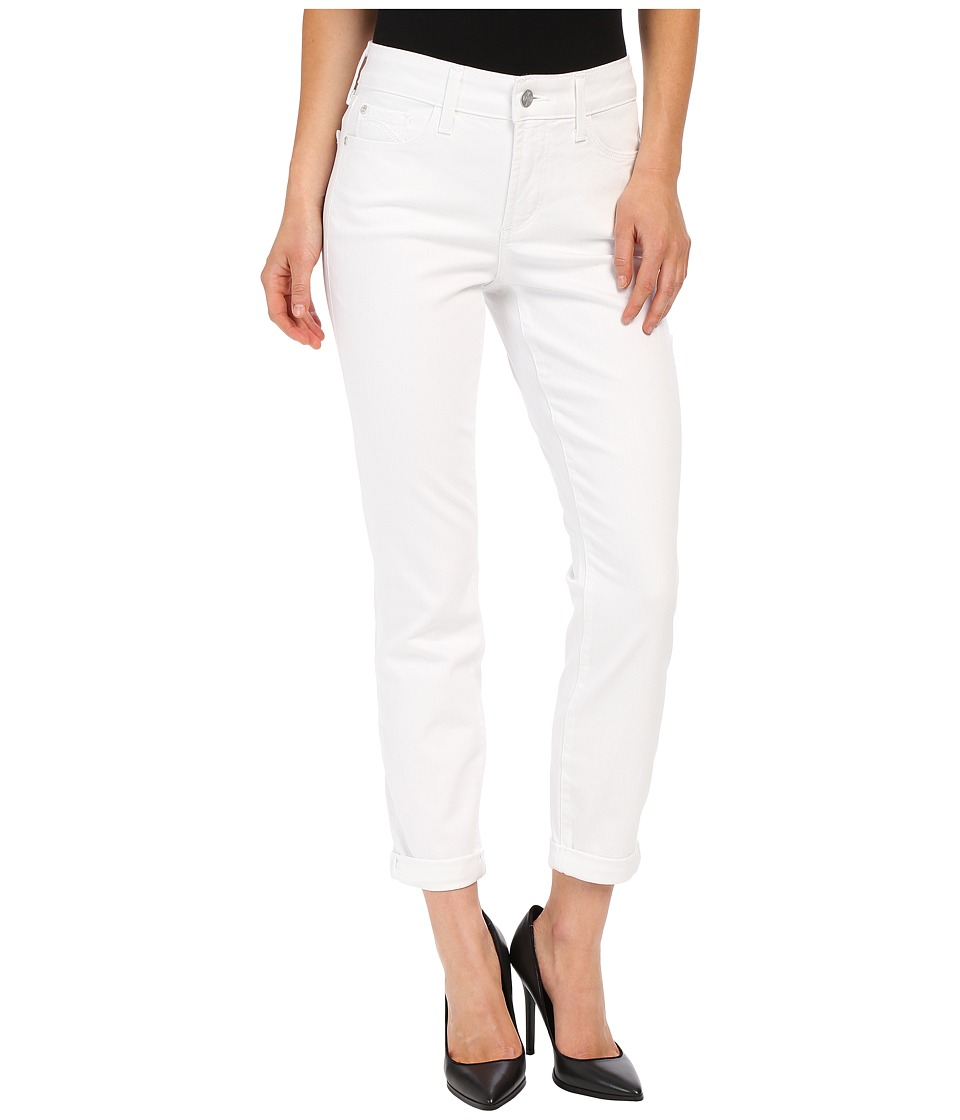 NYDJ Rachel Rolled Cuff Ankle in Optic White Optic White Womens Jeans