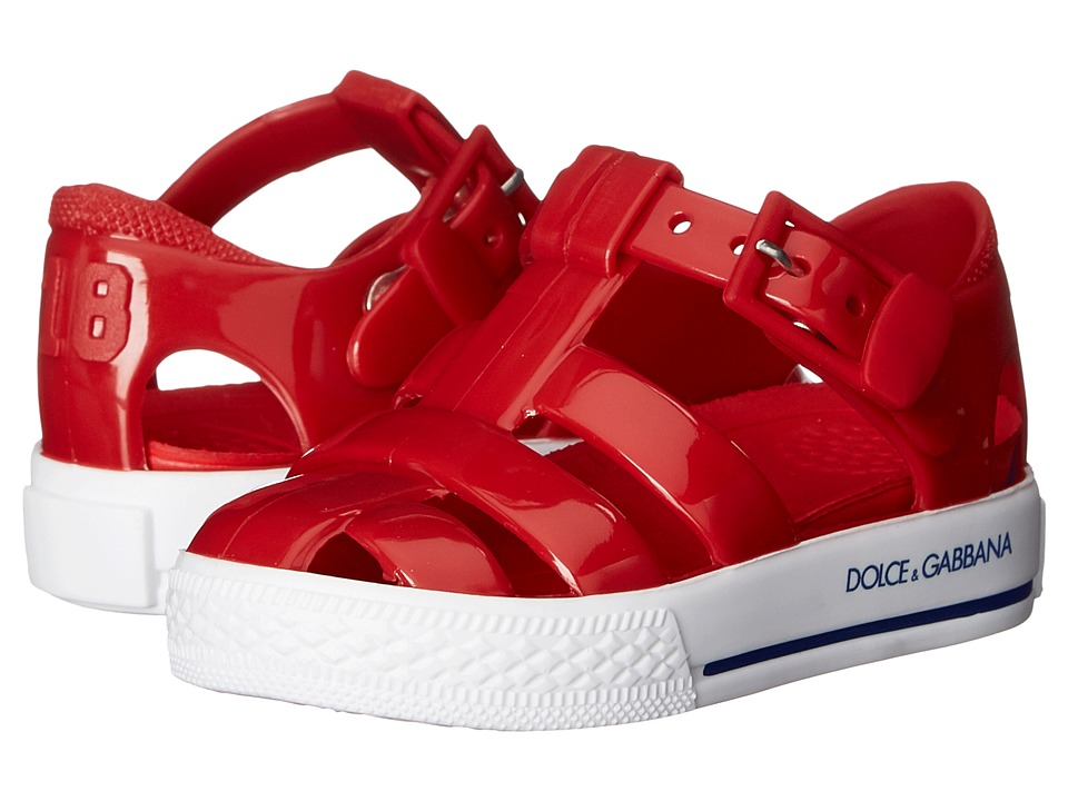 Dolce amp Gabbana Kids Beach Sandal Toddler/Little Kid Red 1 Girls Shoes